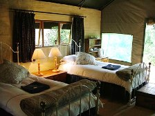 Tented accomodation by the river in the heart of Zululand (KwaZulu Natal Province)