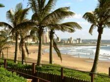 Warm tropical beaches of Durban (KwaZulu-Natal province)