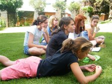 girls on lawns